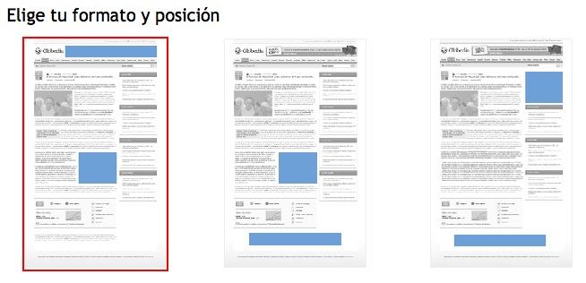 Formatos de publicidad en Globedia